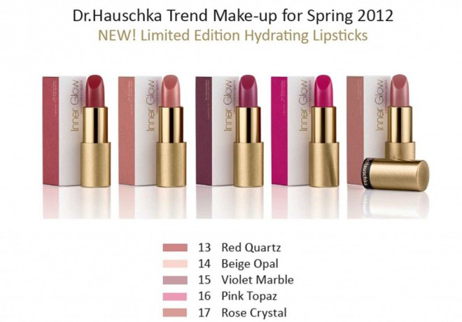 Dr. Hauschka Inner Glow 2012 LE Lipstick Collection