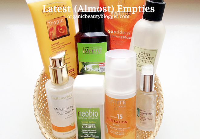 Latest Organic Beauty (Almost) Empties #1