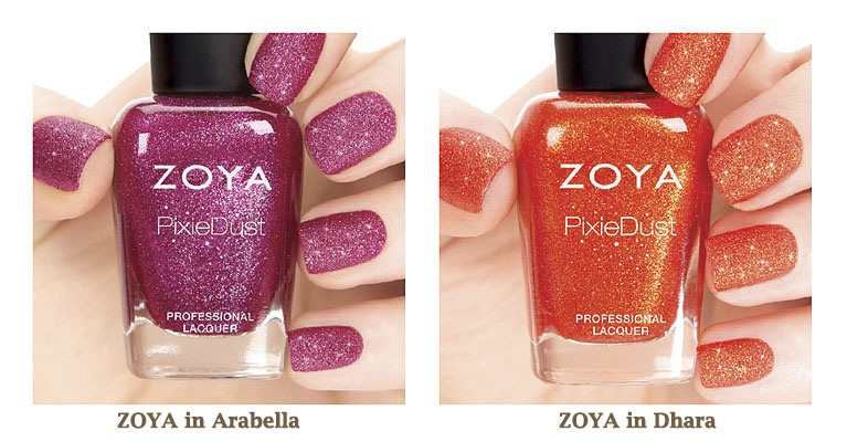 zoya pixiedust fall 2013 collection colors