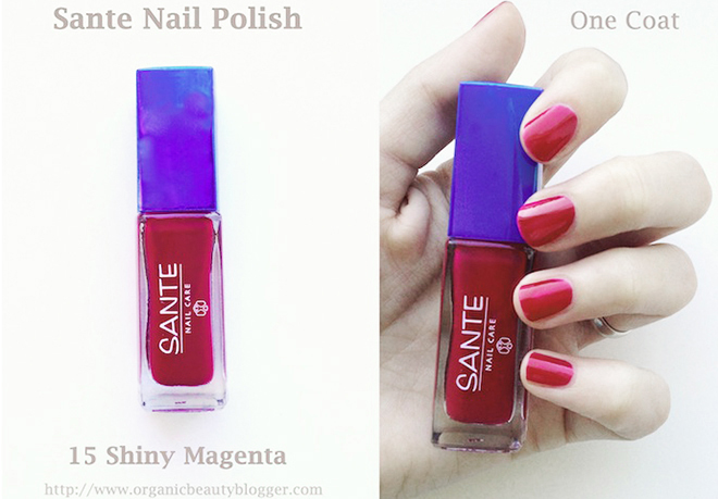 Happy Nails: Sante Nail Polish 15 Shiny Magenta Swatches