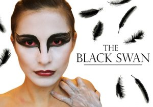 Black Swan Halloween Makeup Tutorial
