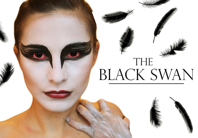 Black Swan Halloween Makeup Tutorial