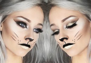Halloween Glitter Cat Makeup Inspiration