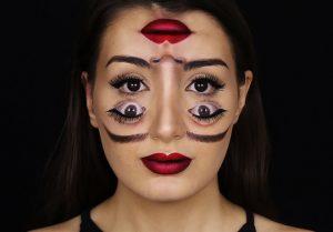 Optical Illusion Halloween Makeup Tutorial