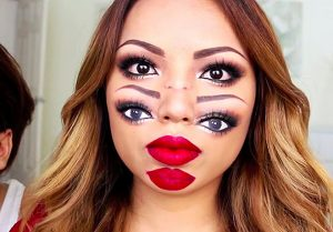 Trippy Double Vision Halloween Makeup Look tutorial