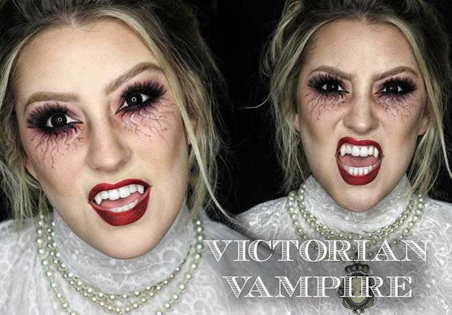Victorian Vampire Bride Makeup Tutorial Halloween