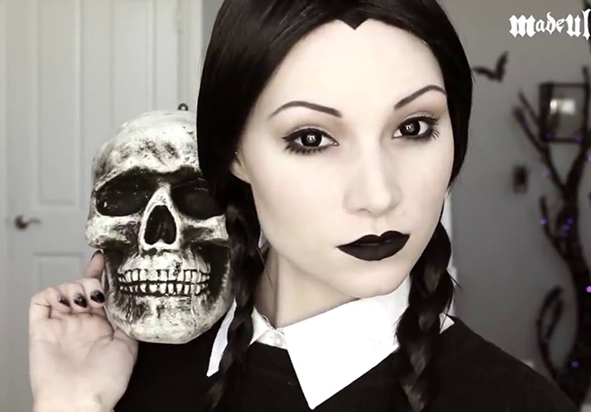 Wednesday Adams Halloween Makeup Tutorial