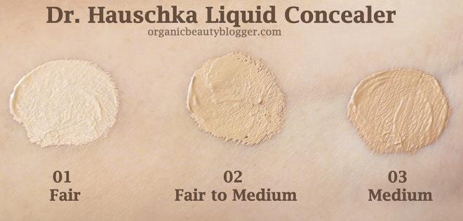 Dr. Hauschka Liquid Concealer Swatches