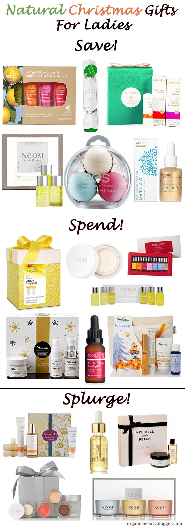 natural christmas beauty gifts for girls