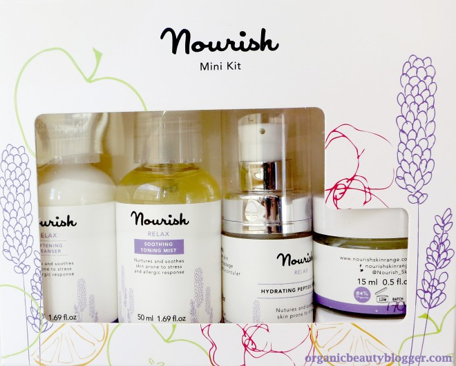 nourish organic relax mini set