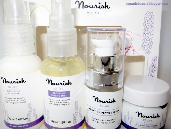 nourish skincare relax mini kit