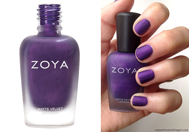 Zoya Savita Matte Velvet Nail Polish Review | Organic Beauty Blogger