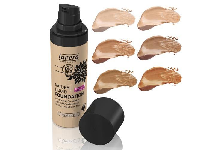 Lavera Liquid Foundation Swatches