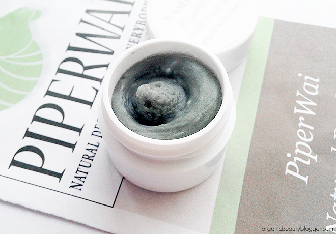 Piperwai Natural Deodorant Sample with Activated Charcoal