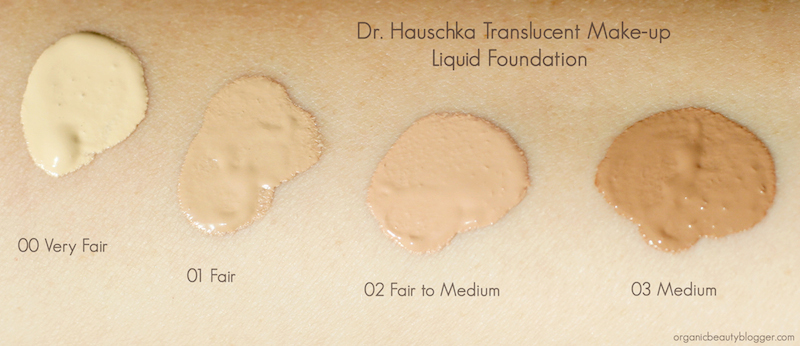 dr hauschka translucent make up liquid foundation swatches organic beauty blogger. Black Bedroom Furniture Sets. Home Design Ideas