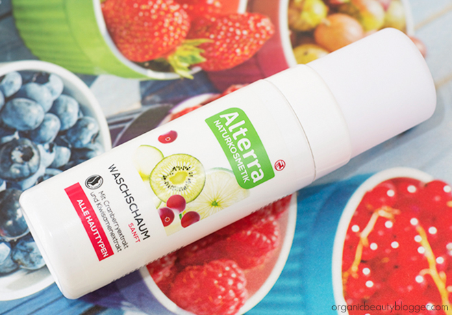 Alterra Face Foam Cranberry Kiwi Alterra Organic Gentle Cleansing Foam