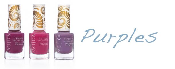 Pacifica 7 Free Nail Polish Purples Pacifica 7 Free Nail Polish + Giveaway