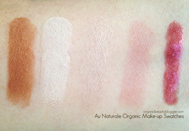 Au Naturale Vegan Natural Cosmetics Swatches-1