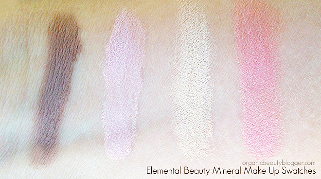 Elemental Beauty Natural Mineral Makeup Swatches