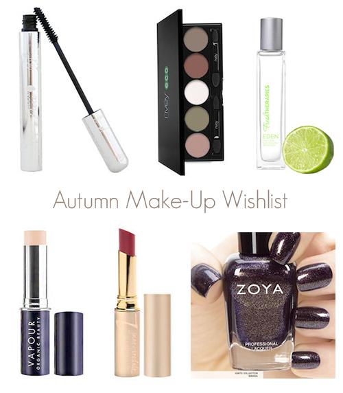 Autumn Makeup Wishlist Autumn Organic Makeup Wishlist 2014