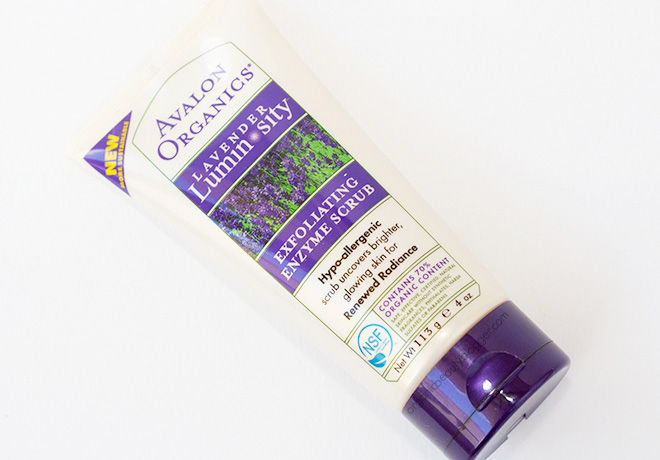 Avalon Organics Lavender Luminosity Exfoliating Enzyme Scrub 1