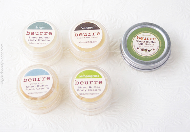 Beurre Shea Butter Body Cream Samples Beurre Natural Shea Butter Creams
