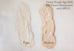 Green People Age Defy DD Tinted Moisturizer swatch
