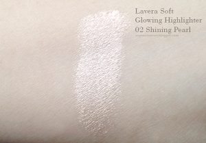 Lavera Glowing Highlighter Swatch