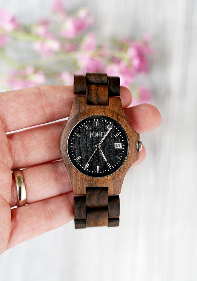JORD Ely Black Wood Watch-2