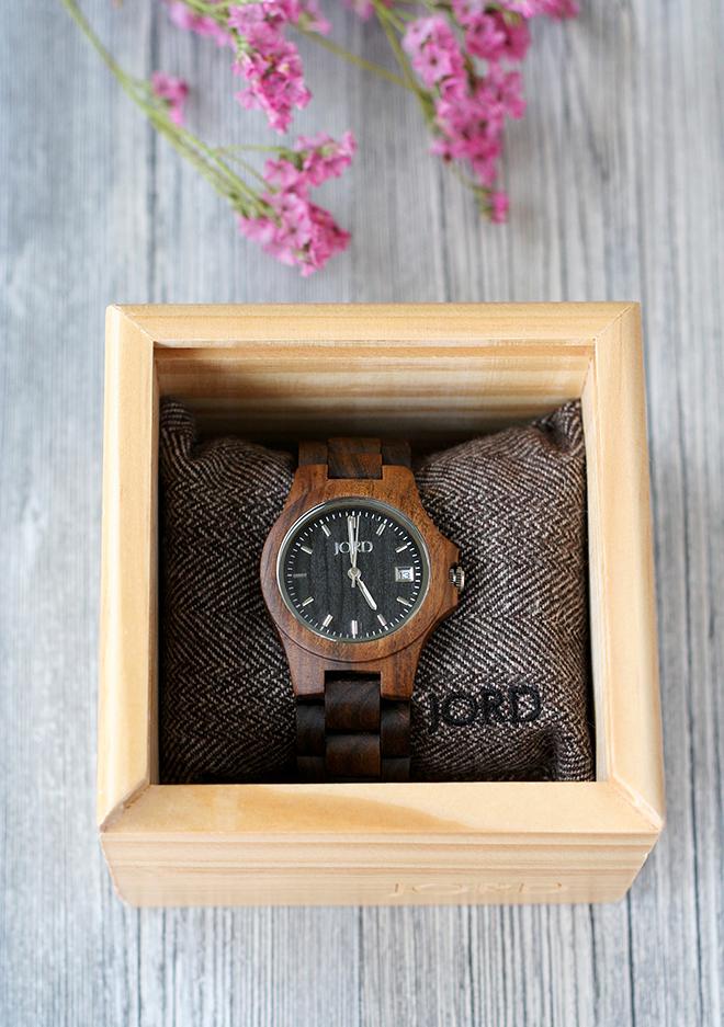 JORD Ely Black Wood Watch