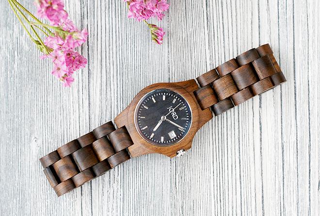 Jord Black Ely Wood Watch-3