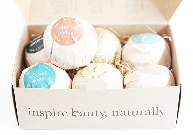 Beauty By Earth Natural Bath Bombs Gift Set