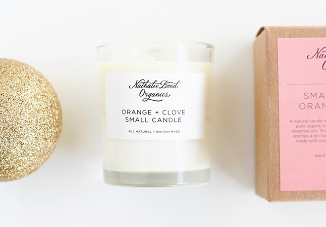 Nathalie Bond Organics Natural Vegan wax mini candle