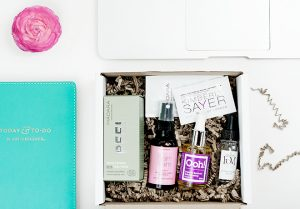 Monthly subscription beauty box