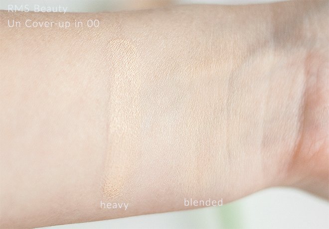 RMS Beauty Un Cover Up Organic Concealer Foundation 00 Swatch