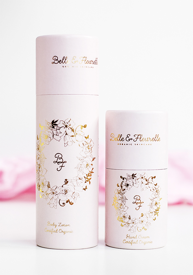 Belle & Fleurelle Organic Body Lotion And Hand Cream