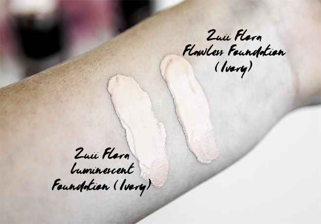 Zuii Certified Organic Lux Flora Foundation Swatches
