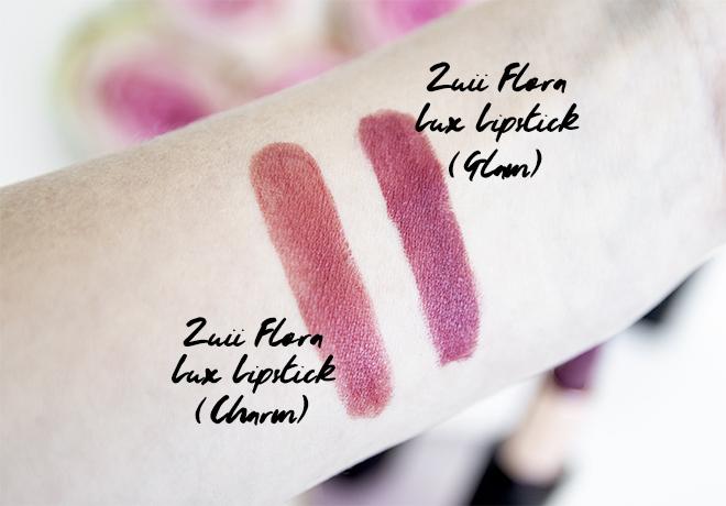 Zuii Flora Lux Certified Organic Lipsticks Swatches