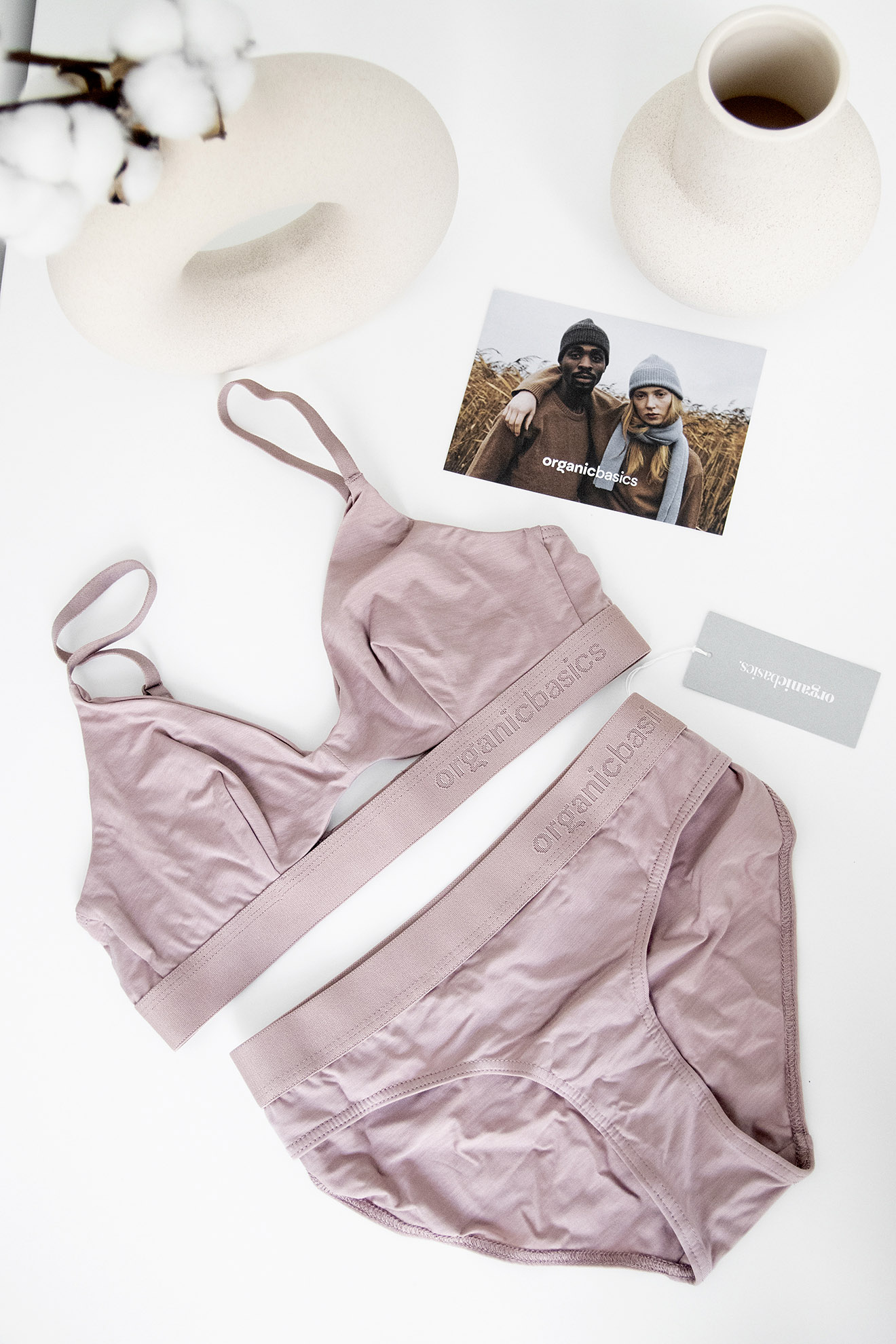 Organic Basics TENCEL Ethical Sustainable Briefs and Bra